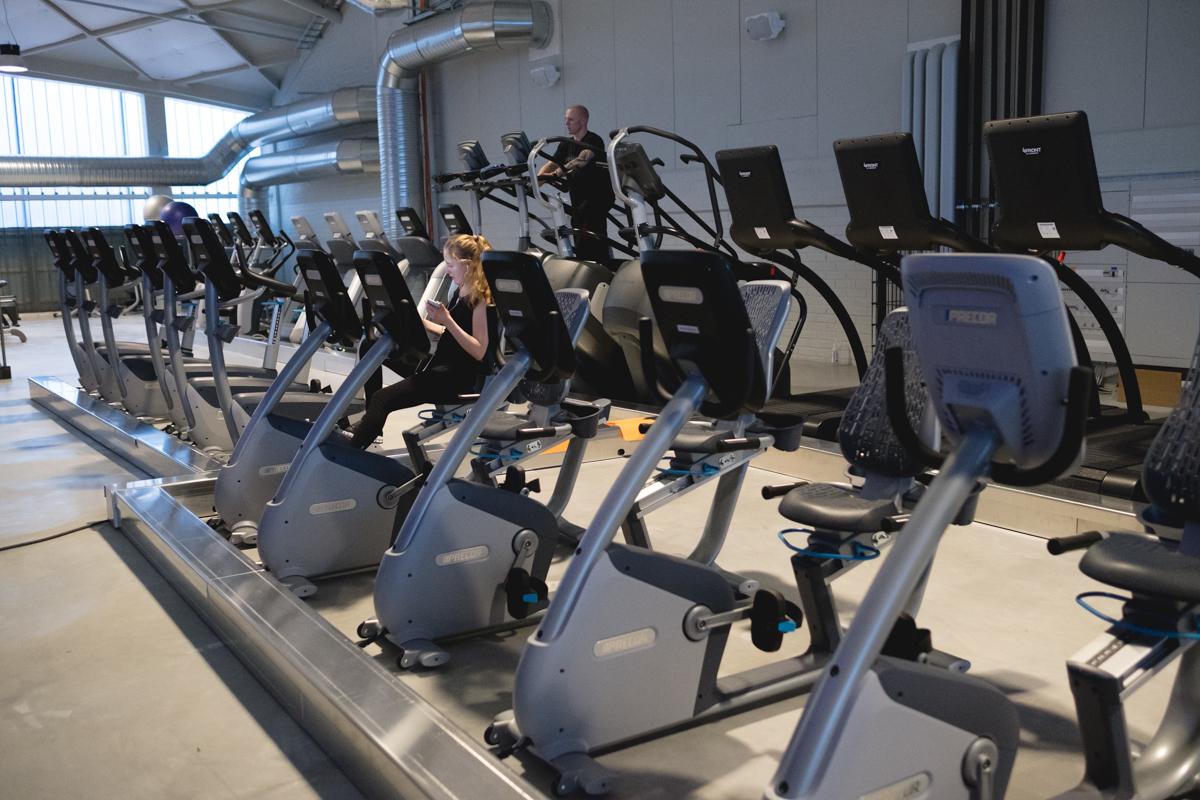 Training Centerin kuntosalin aerobinen osasto on laaja. Pääset aina harjoittelemaan, eikä laitteisiin tarvitse jonottaa.